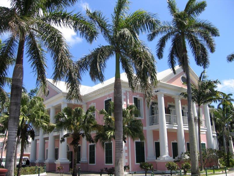 Nassau de Bahamas het Huis van de Overheid stock foto's