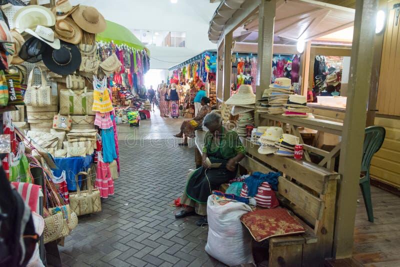Nassau, de Bahamas Straw Market stock afbeeldingen