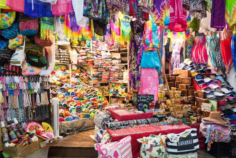 Nassau, de Bahamas Straw Market stock fotografie