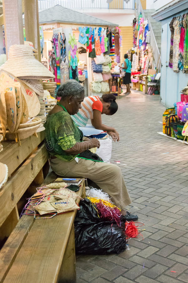 Nassau, de Bahamas Straw Market royalty-vrije stock fotografie