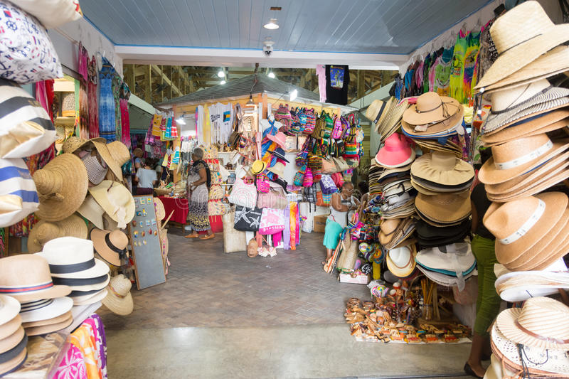 Nassau, de Bahamas Straw Market royalty-vrije stock afbeelding