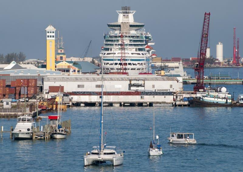 Nassau de Schepen van de Stadshaven royalty-vrije stock afbeeldingen