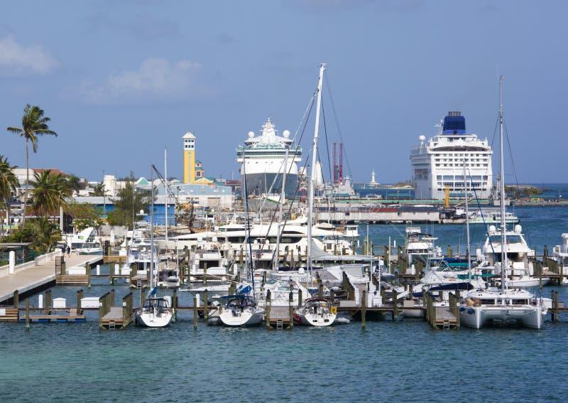 Nassau-Hafen stockfotos