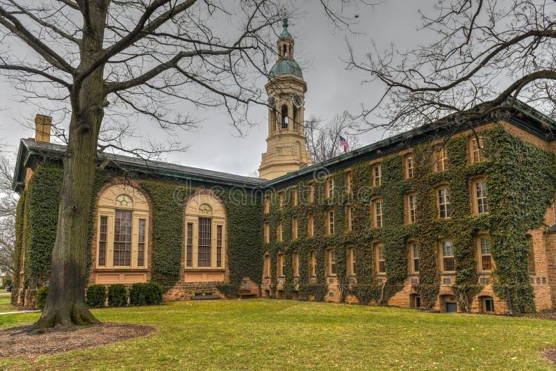 Nassau Hall - Princeton University. Nassau Hall, a national landmark in Princeton University. Nassau Hall or Old Nassau is the oldest building at Princeton royalty free stock images