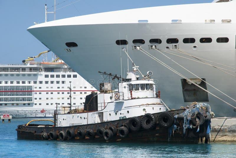 Nassau Havenschepen royalty-vrije stock foto