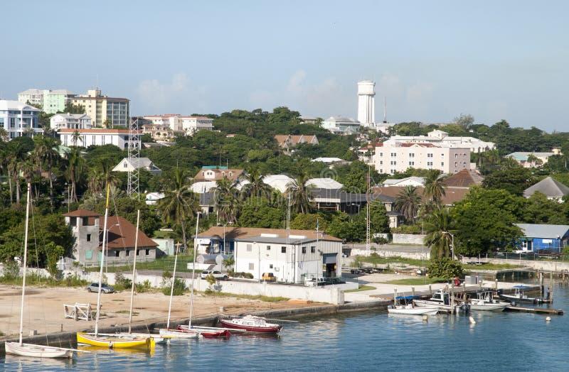 Nassau miasta łodzie zdjęcie royalty free