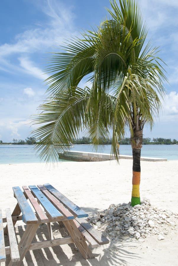 Nassau miasta plaży stół zdjęcie stock