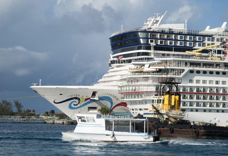 Nassau miasta statki obraz stock