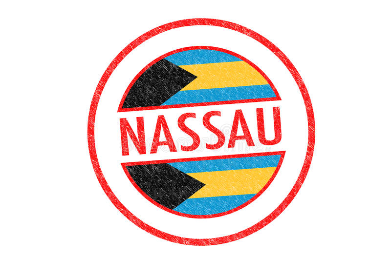 NASSAU. Passport-style NASSAUcapital of the Bahamas rubber stamp over a white background royalty free illustration