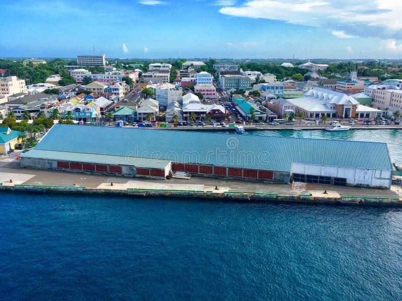 Nassau satellietbeeld het van de binnenstad stock foto's