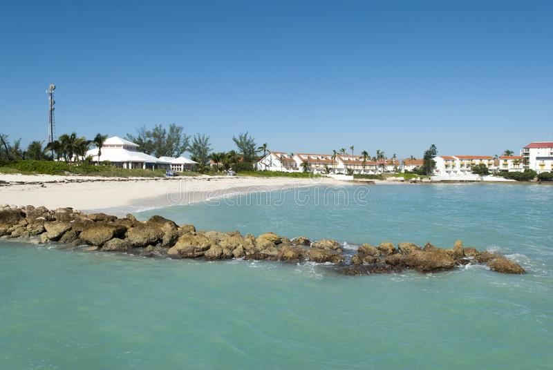 Nassau stadSandyport strand royaltyfria foton