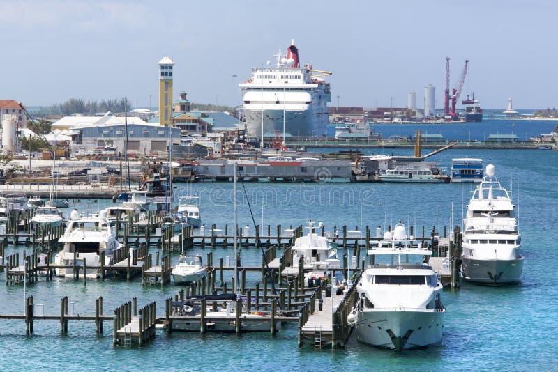 Nassau Stadshaven royalty-vrije stock afbeelding