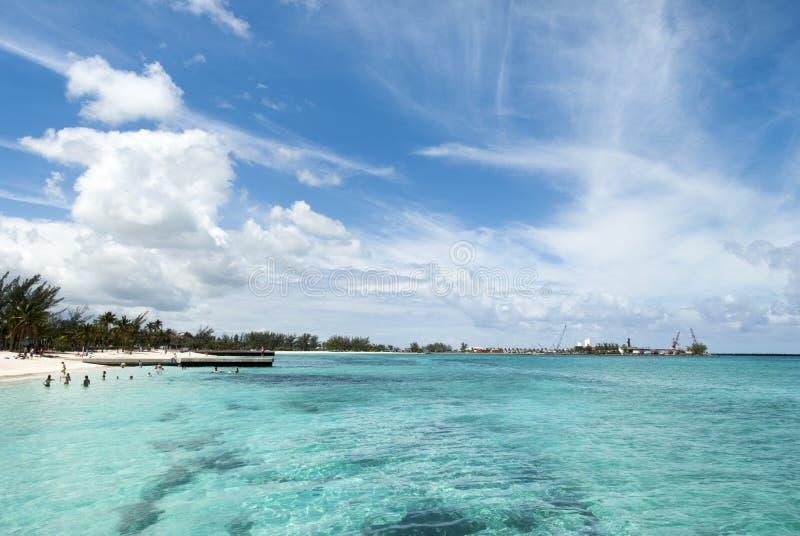 Nassau stadsstrand royaltyfria bilder