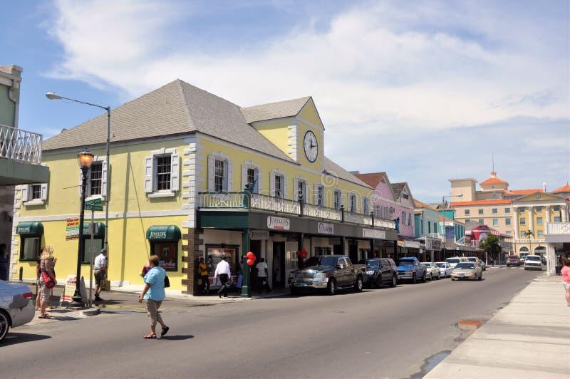 Nassau straat royalty-vrije stock fotografie