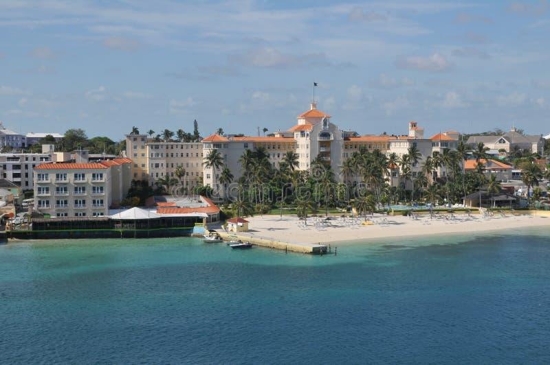 Nassau-Strand in Bahamas stockfotos