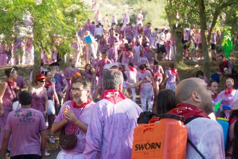 Nasse Leute bei Haro Wine Festival stockfotografie