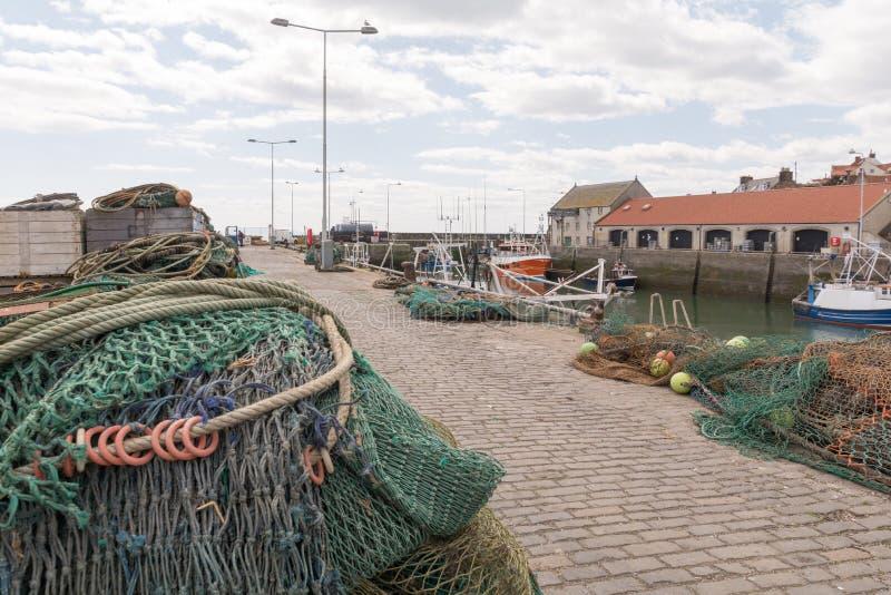 Nasse per crostacei a Crail, piccolo villaggio in Scozia fotografia stock