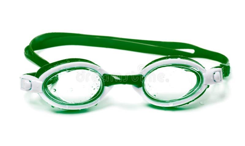 Nasse Schutzbrillen für das Schwimmen stockfotografie