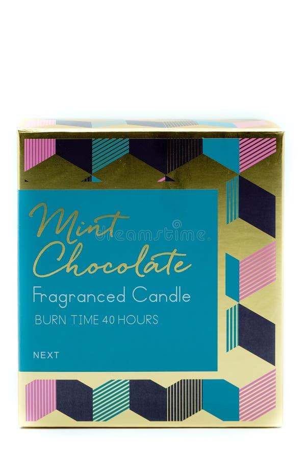 Następna Oznakująca Fragranced świeczka w kartonie zdjęcie royalty free