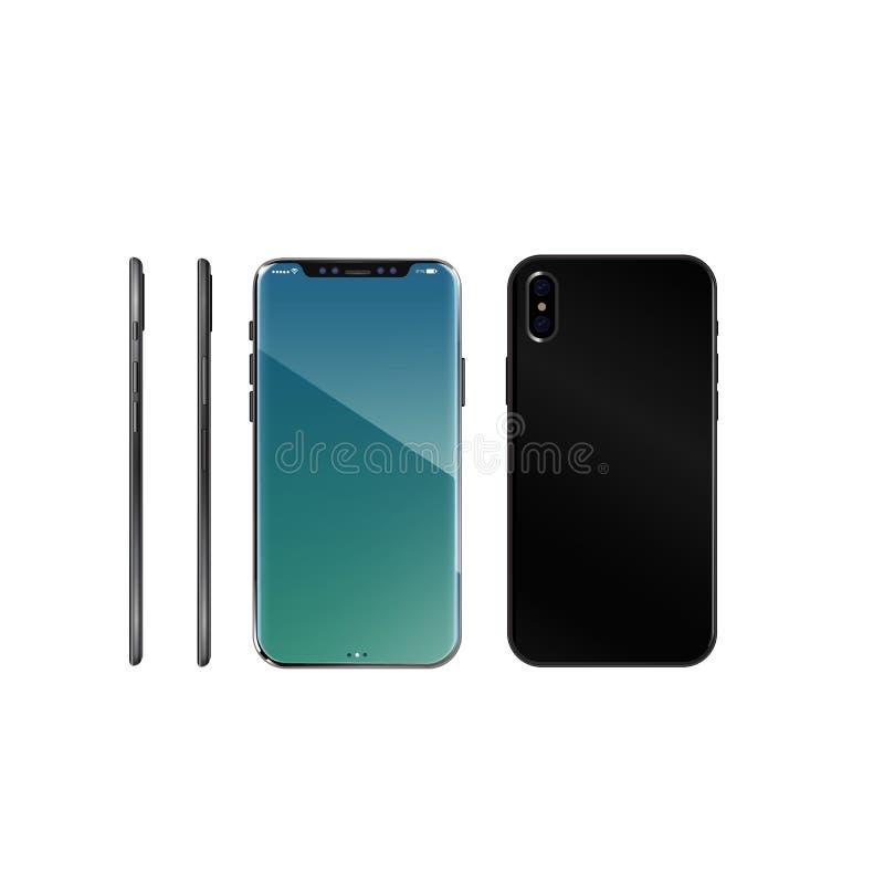 Następna telefonu 8 wiadomość o mobilnej technologii obraz stock