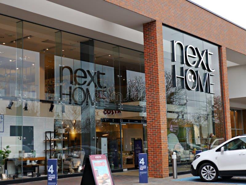 Następny Domowy sklepu przód w Staines Surrey UK zdjęcie royalty free