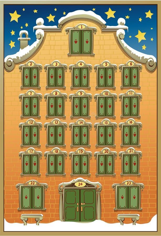 nastania kalendarzowe kreskówki bożych narodzeń elementów ikony synchronizować różnorodnego royalty ilustracja