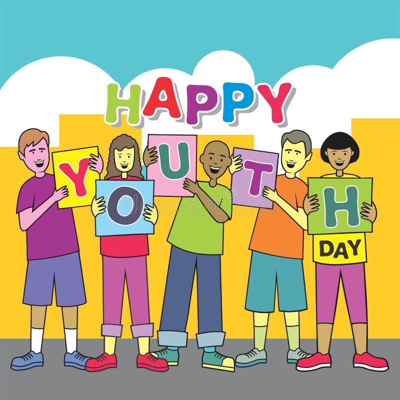 Nastolatek młodości Szczęśliwy dzień obrazy royalty free