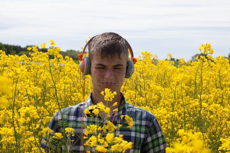 Download Nastolatek na gwałta polu obraz stock. Obraz złożonej z kwiat - 57671629