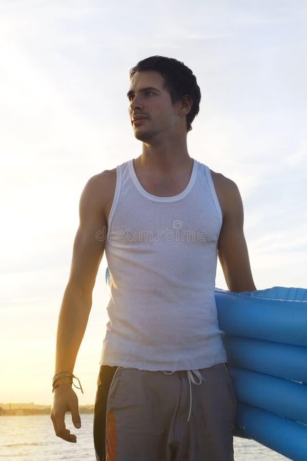 nastolatek na plaży fotografia royalty free