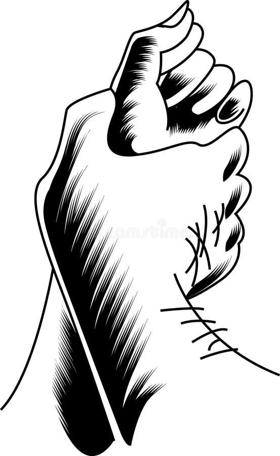 Nastolatek ręki ilustracja wektor