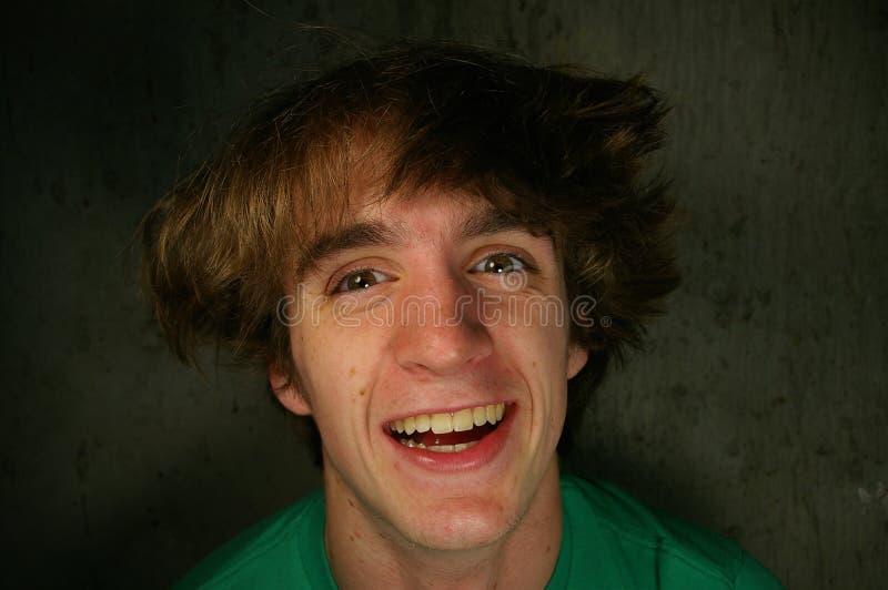 Nastolatek Się śmieje Zdjęcie Royalty Free