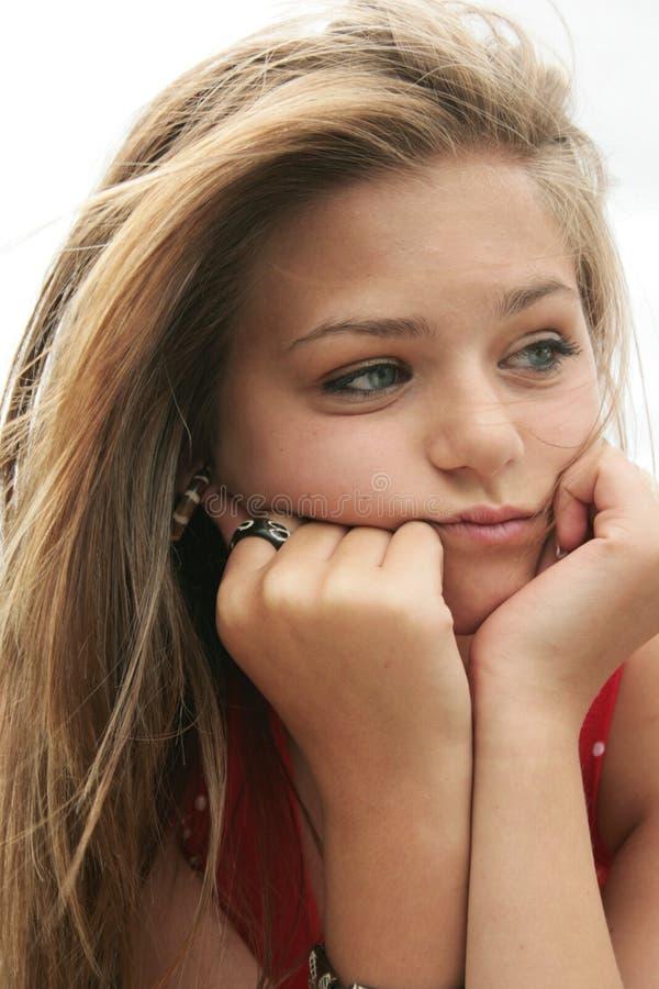nastolatek smutny zdjęcia stock