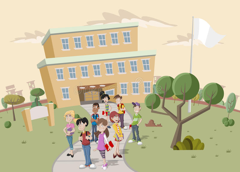 Nastolatków ucznie ilustracji
