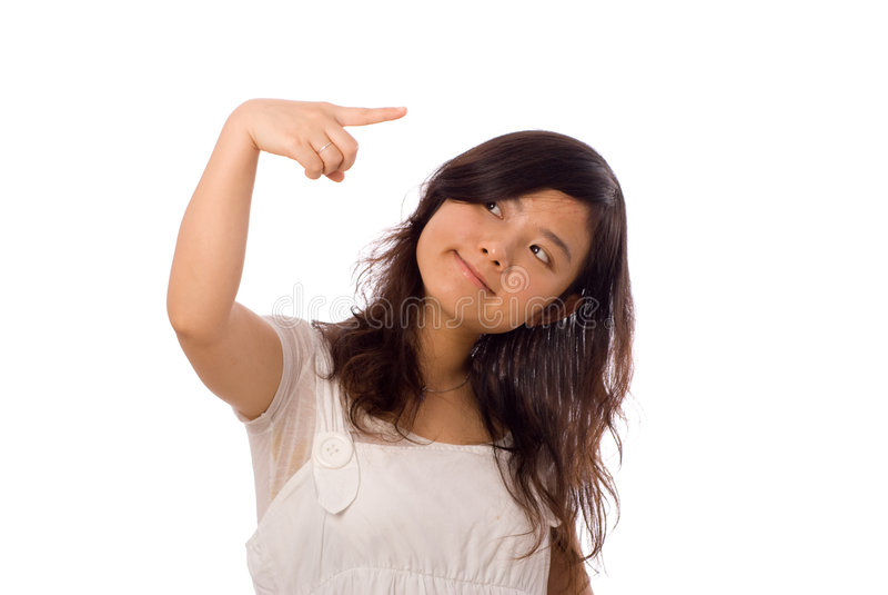 nastolatka azjatykci biel fotografia royalty free