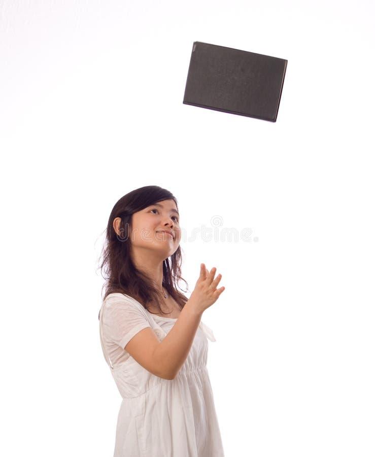 nastolatka azjatykci biel zdjęcie royalty free