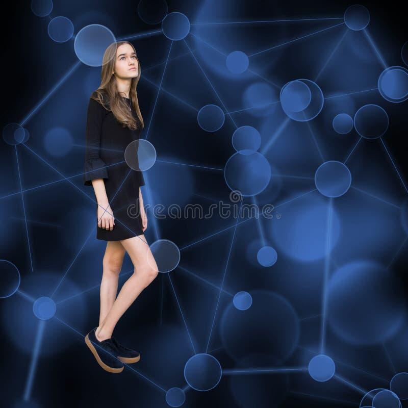 Nastolatka socjalny i dziewczyny nastoletnia sieć zdjęcie royalty free