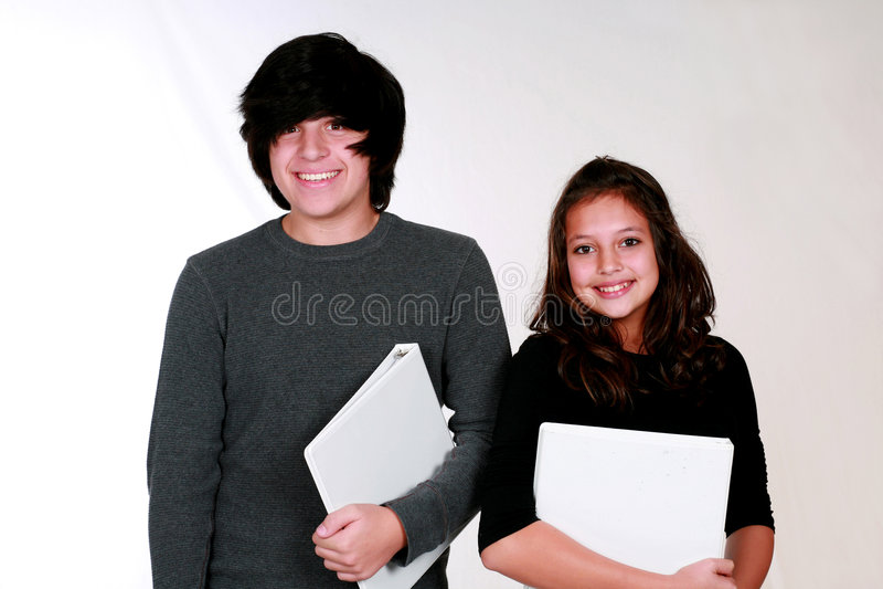 nastoletni śliczni ucznie zdjęcie stock