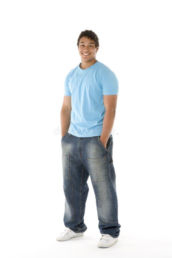 nastoletni chłopiec portret zdjęcie stock