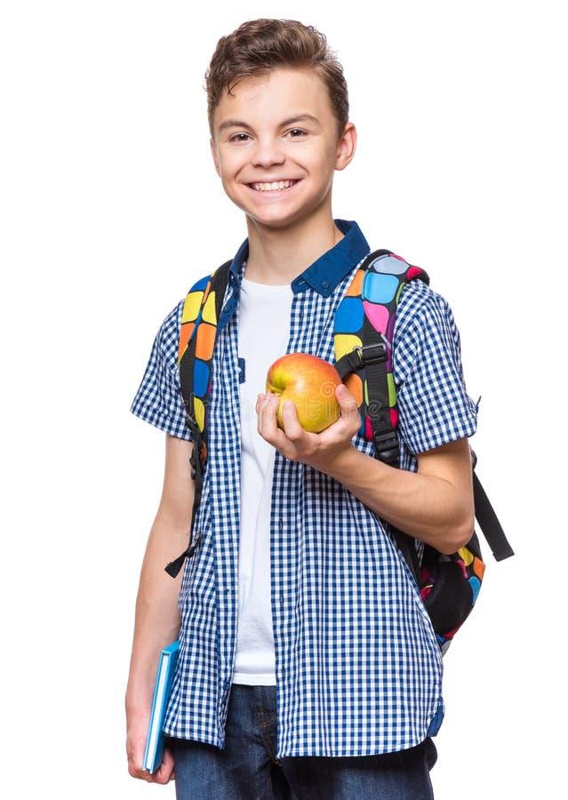 Nastoletni chłopiec uczeń obraz stock