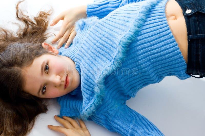 nastoletni dziewczyna śliczny portret obrazy stock
