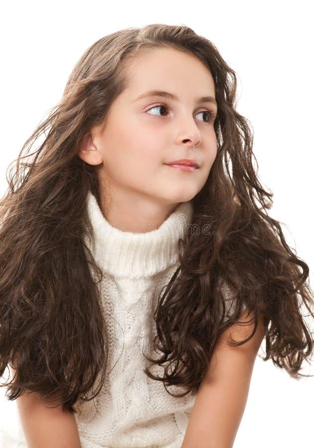 nastoletni dziewczyna biel fotografia royalty free