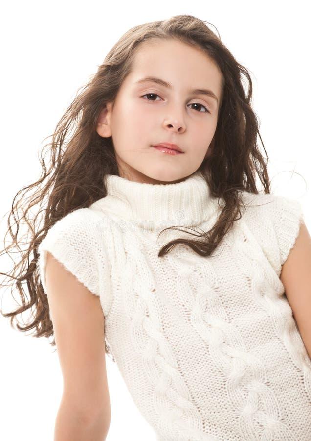nastoletni dziewczyna biel obraz stock
