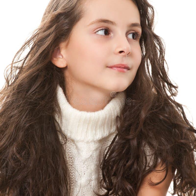 nastoletni dziewczyna biel zdjęcie royalty free