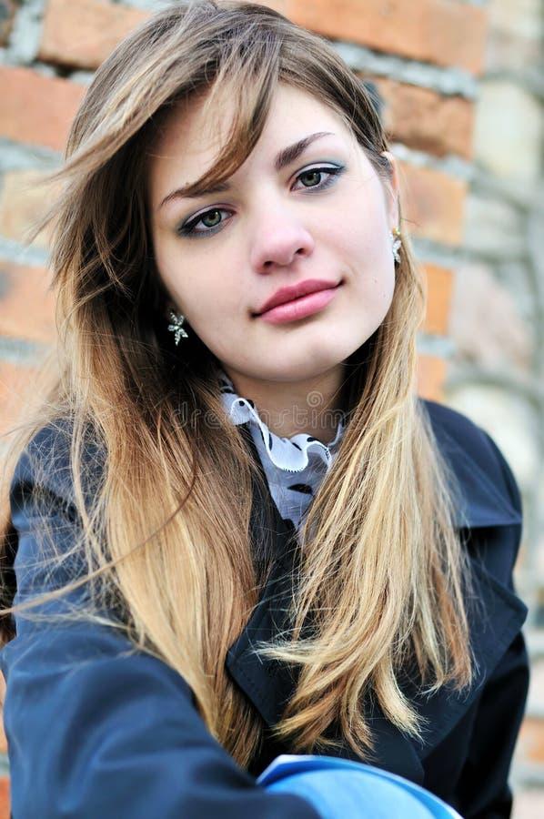 nastoletni dziewczyny prtrait zdjęcia stock