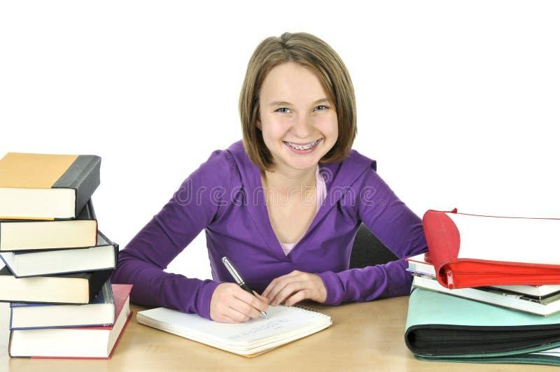 nastoletni dziewczyny studiowanie zdjęcia stock