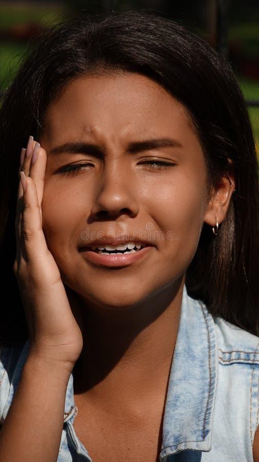 Nastoletni dziewczyny Toothache obrazy royalty free