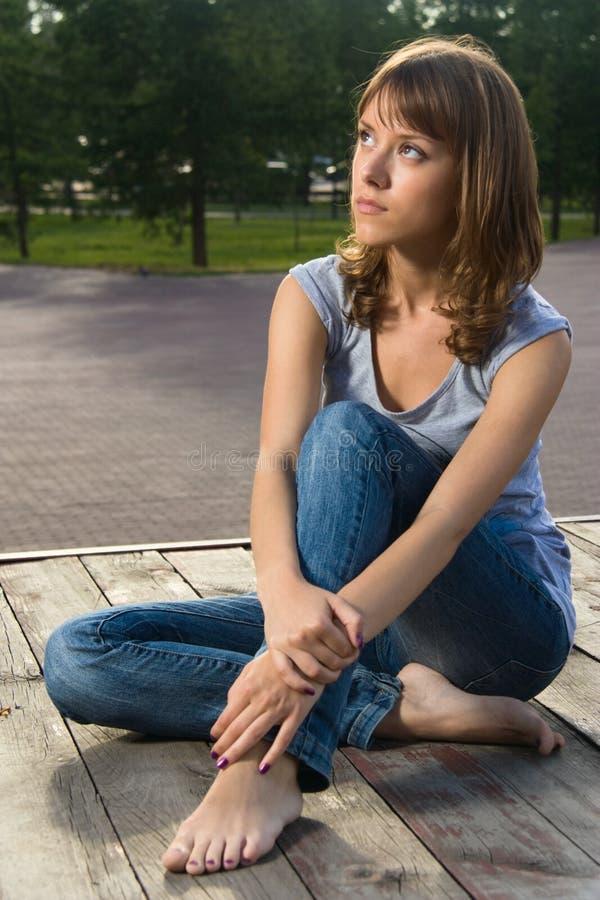 nastoletni parkowy dziewczyny lato fotografia royalty free