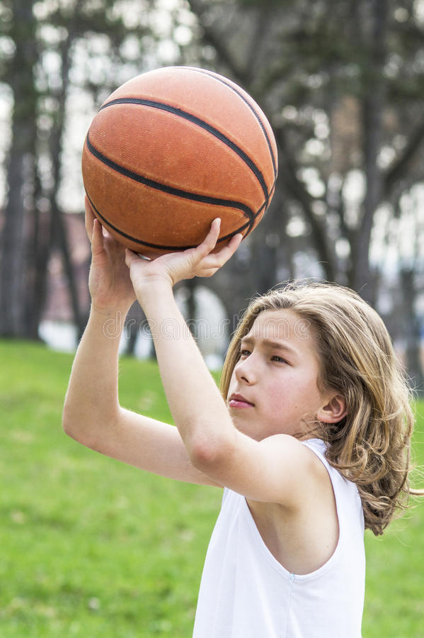 Nastoletni sportowiec obrazy stock