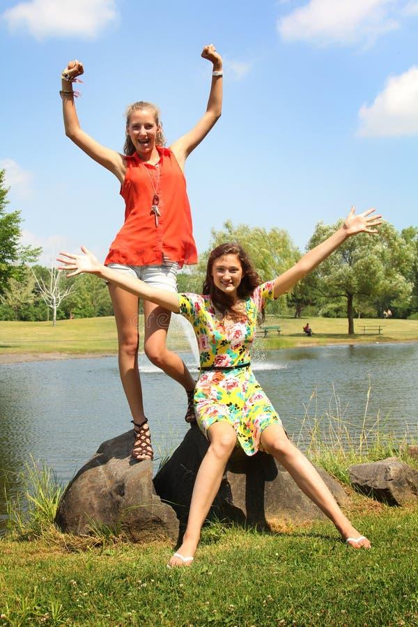 Nastoletni w parku obrazy royalty free