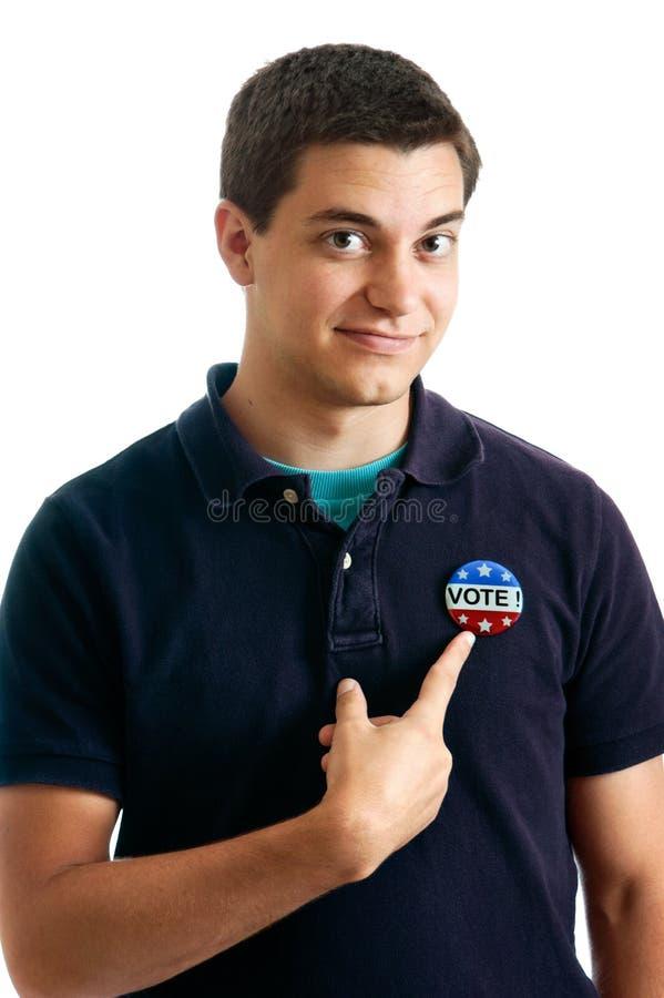 nastoletni wyborca zdjęcie stock